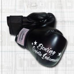 Guantes Boxing piel de color negro