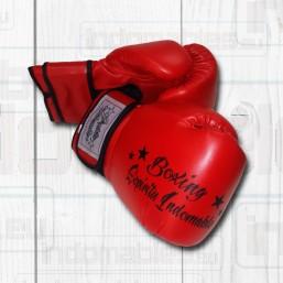 Guantes Boxing piel de color rojo
