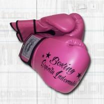 Guantes Boxing piel de color rosa
