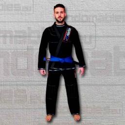 Kimono BJJ negro Eurofighter de frente